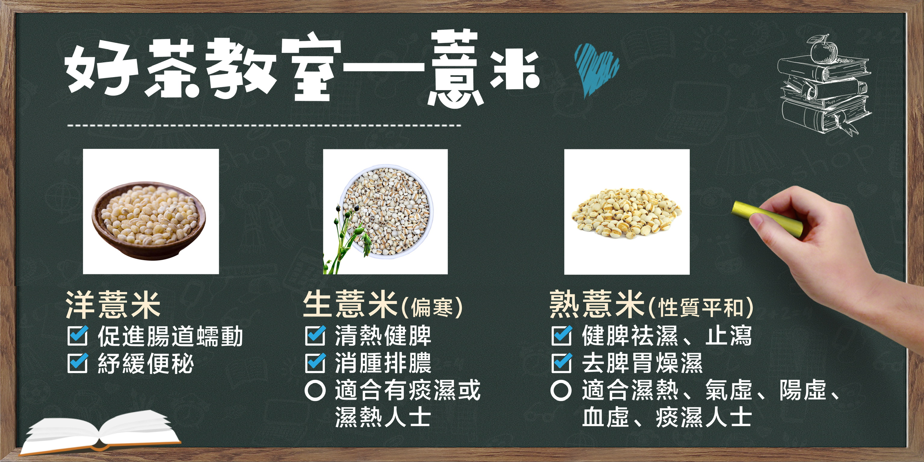 【好茶教室—薏米】