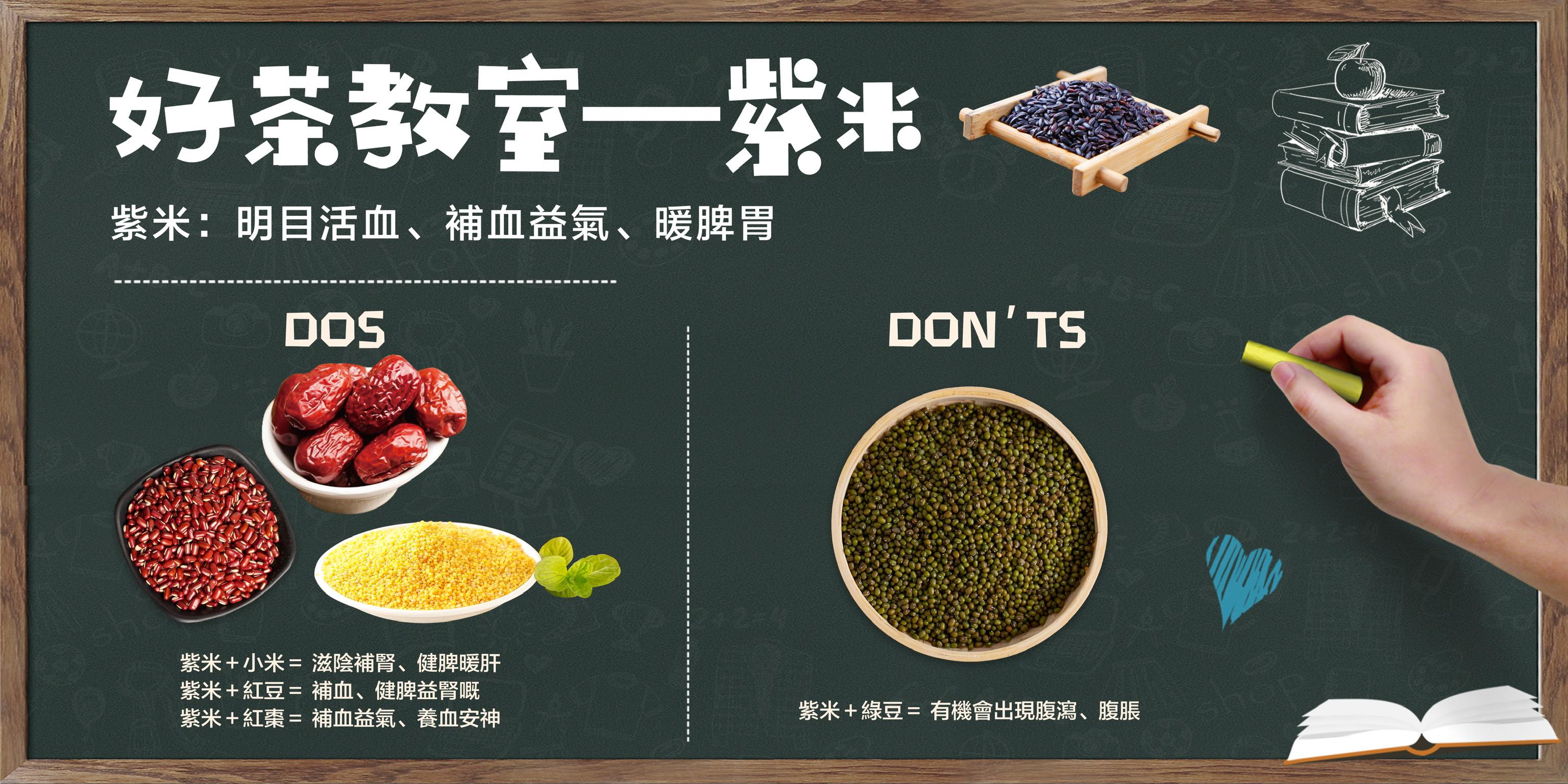 【好茶教室 —  紫米dos & don'ts】