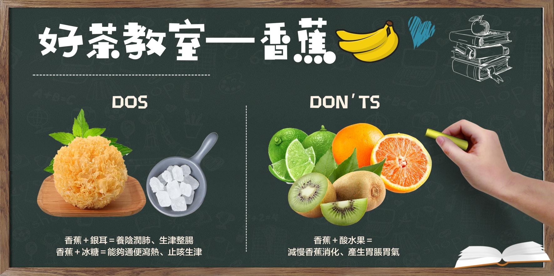 【好茶教室 —  香蕉dos & don'ts】